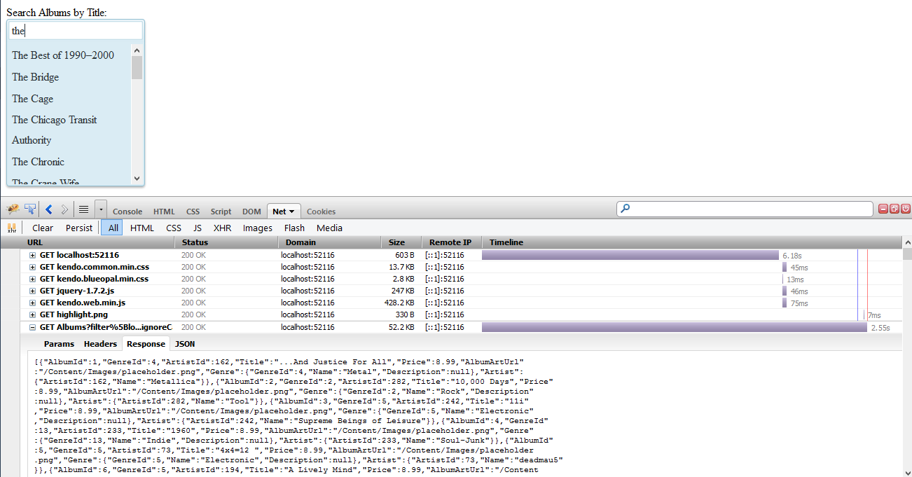 Server-Side Filtering Using KendoUI With MVC4 WebAPI and