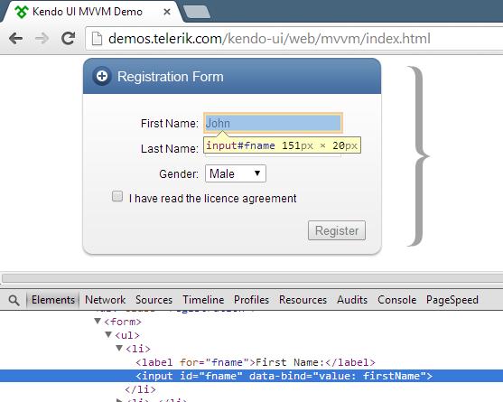 Debugging those pesky Kendo UI MVVM bindings   Coding With